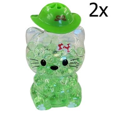 2 x GREEN APPLE CAT BUBBLE AIR FRESHNERS car home bathroom caravan motorhome van